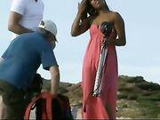 Sesión de fotos desnuda con la chica caliente