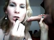 El maquillaje y la eyaculación en la boca