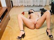 Sexo y eyaculación con una perfecta novia alemana