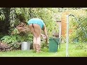 Cámara Voyeur espiando a la vecina mujer