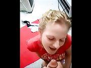 La novia recibe una eyaculación sorpresa en la cara